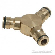 "3-Way Connector Brass - 1/2"" Male"
