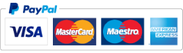 Credit and Debit Cards accepted via Pay Pal